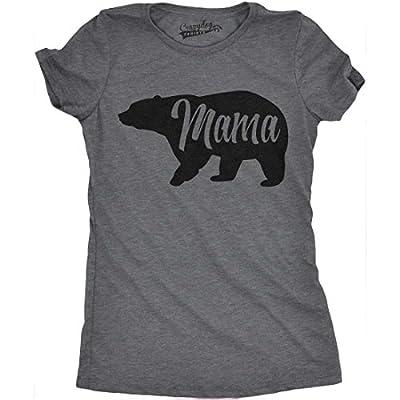 Womens Bear Mama Funny Shirts for Moms Gift Idea Novelty Tees Family T shirt