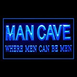 Where Men can Be Men Funny Quotes Man Cave Home Beer Best LED Light Sign 230140 Color Blue