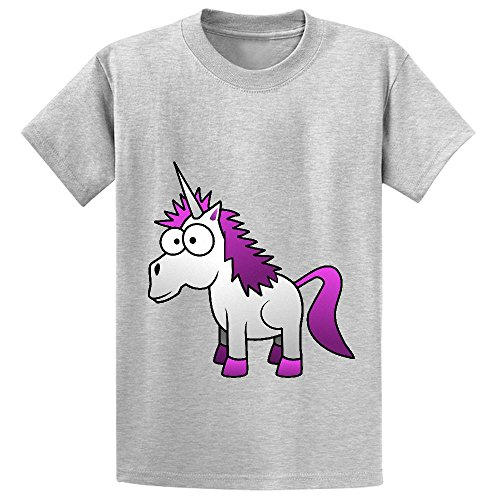 Wizard Of Oz Scene Setter (Andy Unicorn Cute Child Crew Neck Short Sleeve Shirts Grey)
