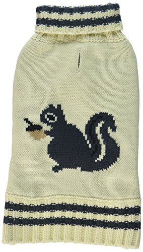 Fab Dog Squirrel Sweater - Cream - 12 Inch by fabdog