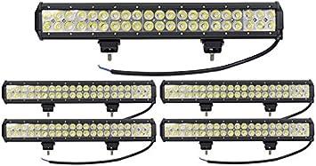 120W LED Barre de Travail Phares,ALPHA DIMA 12V 24V IP67 /étanche Longue Port/ée LED Projecteur pour V/éhicule Tout-terrain Bateaux,Camion,Voiture