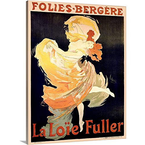(Cabaret Folies Bergere- La Loie Fuller Vintage Advertising Poster Canvas Wall Art Print, 30