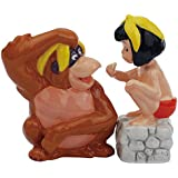 Westland Giftware Magnetic Ceramic Salt and Pepper Shaker Set, King Louie and Mowgli, Multicolor