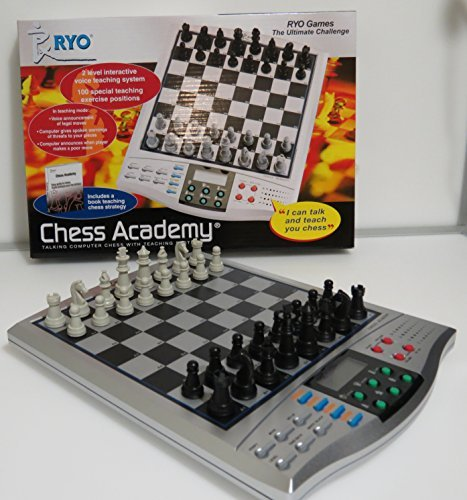 CHESS GAME voice chess academy classical game 2 level interactive voice teaching system INCLUDES A BOOK OF TEACHING CHESS STRATEGY grate for chess lovers. (System Academy The)