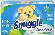 Snuggle PLUS SuperFresh Dryer Sheets Fabric Softener, Original, 105ct