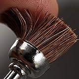 Dophee 5Pcs D15mm Soft Nylon Cup Brushes Polishing