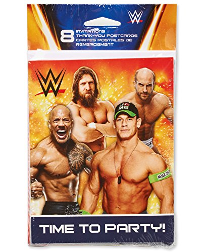 American Greetings WWE Invite and Thank You Combo Pack (8 Count) by American Greetings
