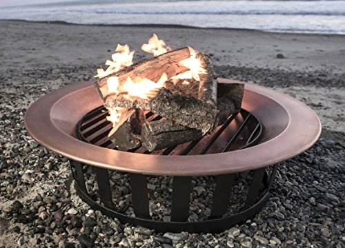 Titan 40″ Solid 100% Copper Fire Pit Bowl Wood Burning Patio Deck Grill Review