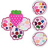 Children Makeup Set Children's Strawberry Colorful Makeup Lip Gloss Eyeshadow Game Toy Girl Makeup Toy Set 18099 Dress up Cosmetics Makeup Kit for Pretend Play for Girls