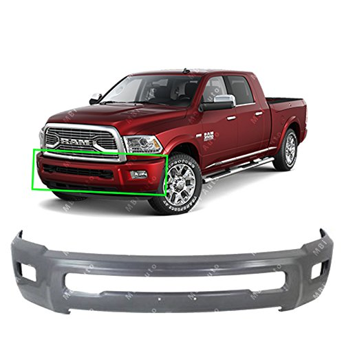 - MBI AUTO - Primered, Gray Steel Front Bumper Face Bar Fascia for 2010 2011 2012 2013 2014 2015 2016 2017 2018 RAM 2500 3500 Heavy Duty W/Fog Light Holes 10-18, CH1002392
