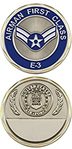 U.S. Air Force Airman First Class E-3 Challenge Coin