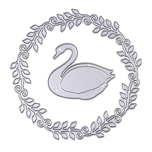 1 Set Swan Wreath Metal Cutting Dies Stencils DIY Scrapbooking - 1