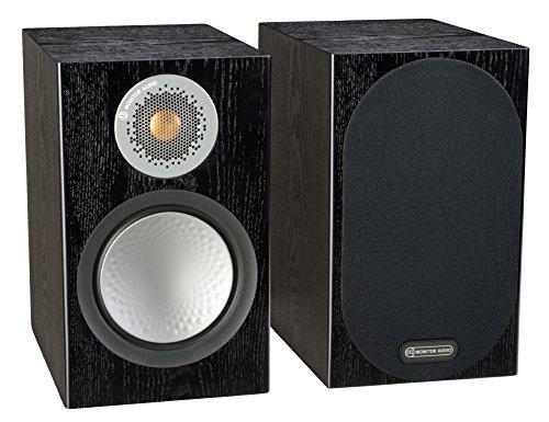 Monitor Audio Silver 50 Bookshelf Speaker Black Oak Pair