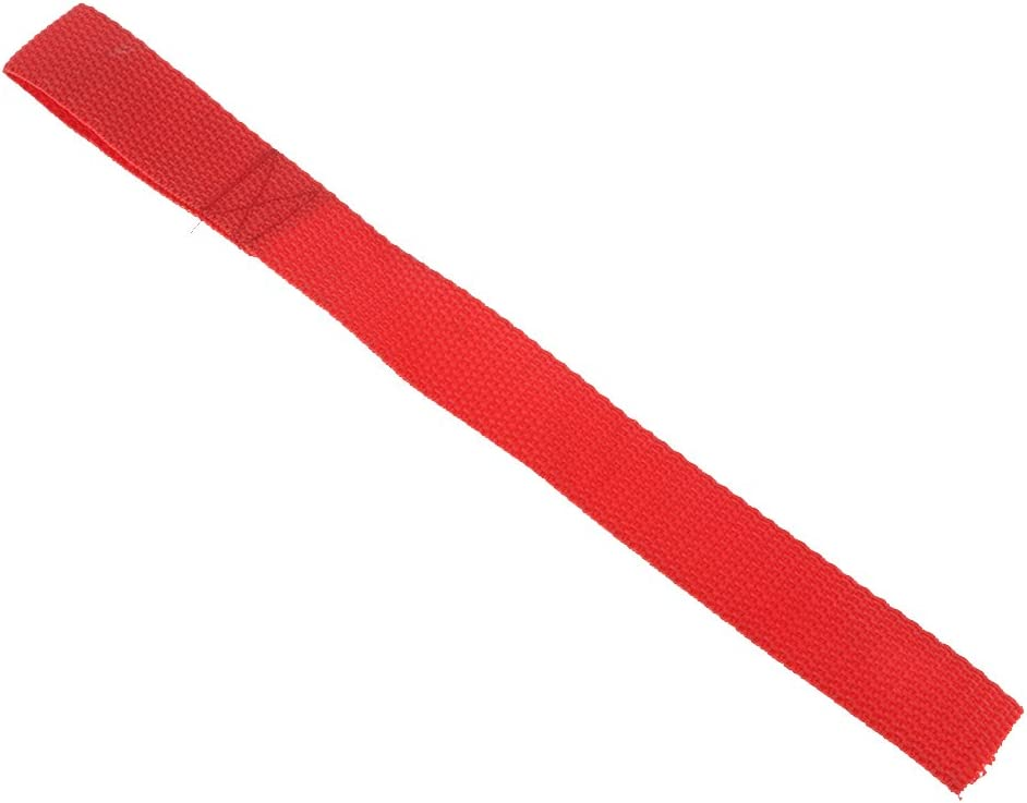 ATV UTV Truck Accessory 2X Heavy Duty Red Winch Hook Pull Strap Protective Loops Towing Rope 2 inch 50mm Wide