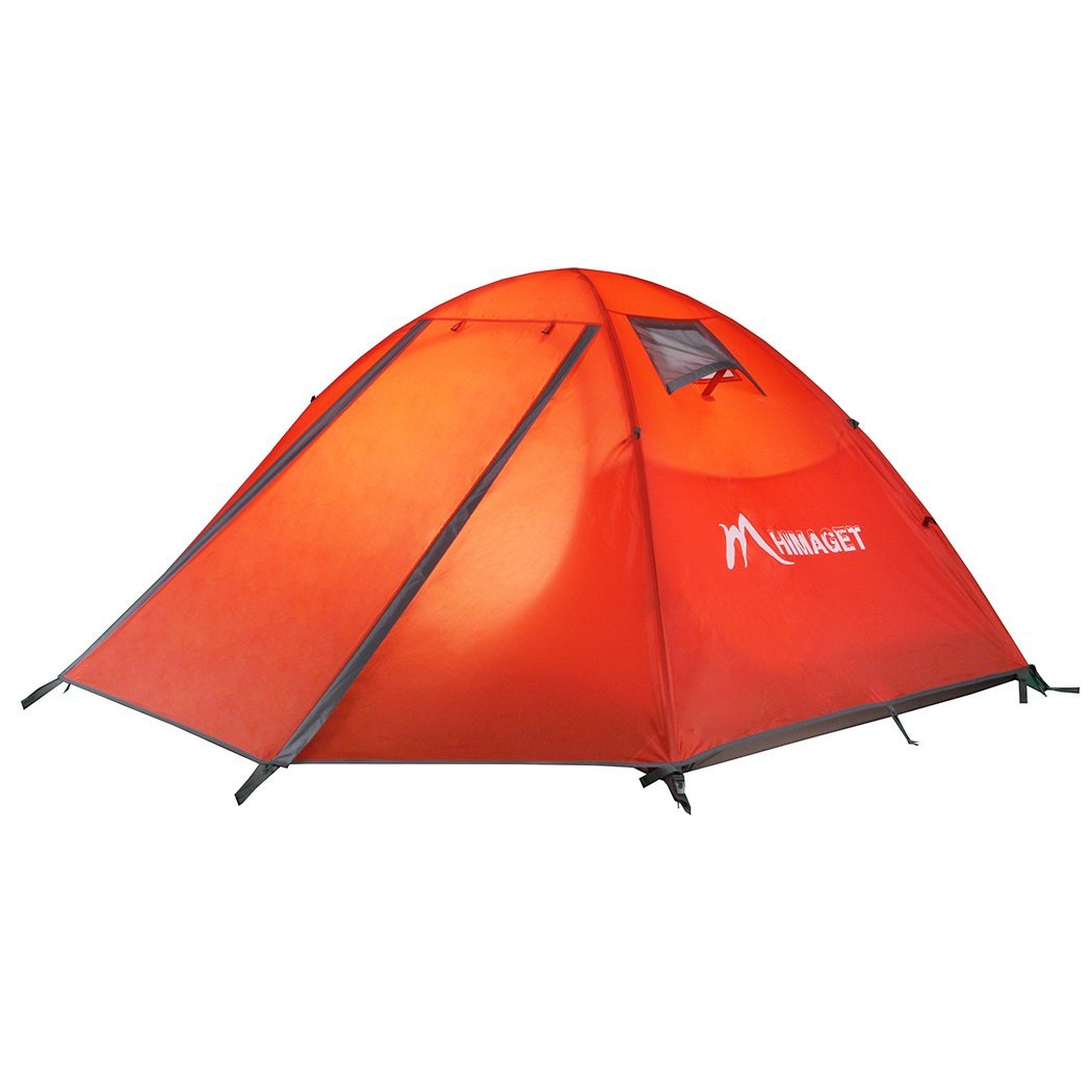 himaget 2人用キャンピングテントバックパッキングテントキャンプハイキング旅行  Orange1011 B01G2ZI2HO