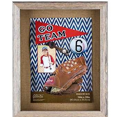 Collectible Shadow Box memorabilia16'' x 20'' Rustic Barn Wood by Unknown