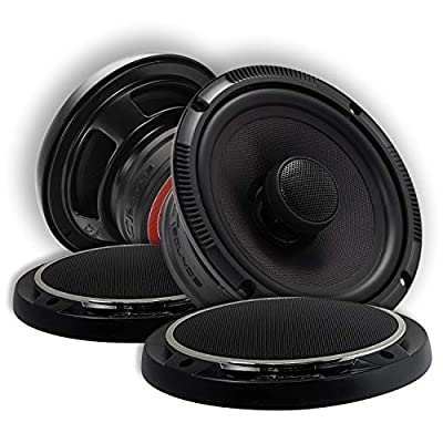 CT Sounds 6.5 Inch Coaxial Car Speakers - 4-Ohm Impedance, 2 Way Full Range, 1.4