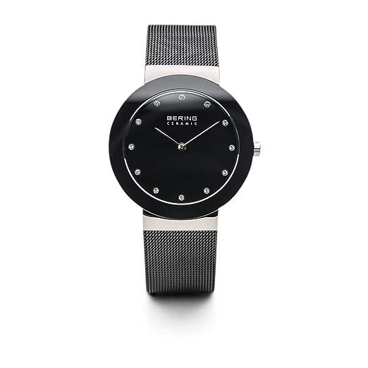 BERING Reloj Analógico para Unisex Adultos de Cuarzo con Correa en Acero Inoxidable 11435-102: Amazon.es: Relojes