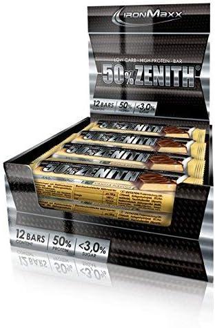 [Gesponsert]IronMaxx Zenith Riegel – Low Carb Eiweißriegel mit 50% Eiweiß, minimalen 3% Kohlenhydraten und nur 1,5g Zucker...