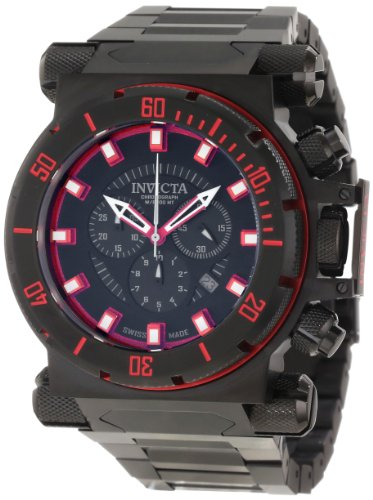 Invicta Men's 10032 Coalition Forces Chronograph Black Dial Watch