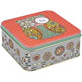 Rachel Ellen Folk Tales Medium Square Storage Tin by Rachel Ellen
