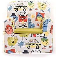SleepAA Fauteuil Enfants Confortable 40x40x42 cm Déhoussable Lavable En Machine | Rembourré Stable Léger Facile à Déplacer | Chaise Canapé Enfant de 6 à 48 mois | Conçu et Fabriqué en UE