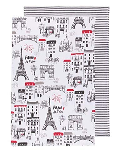 Now Designs Paris Je T'Aime Dishtowels Set of 2 (2232062)