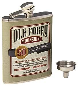 Laid Back CF1302 50th Birthday Ole Fogey Spirit Flask, 7-Ounce