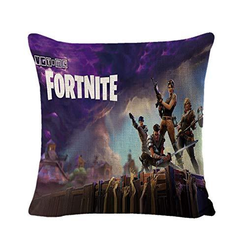 JIKF-shirt 3D Print Decorative Linen Cushion Cover for Sofa Chair Throw Pillow Case 06 45x45cm