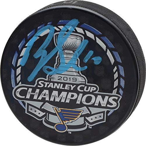 Brayden Schenn St. Louis Blues 2019 Stanley Cup Champions Autographed Stanley Cup Champions Logo Hockey Puck - Fanatics Authentic Certified (Autographed Stanley Cup Hockey Puck)