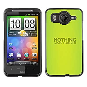 HTC Desire HD / inspire 4G / G10, Radio-Star - Cáscara Funda Case Caso De Plástico (Nothing Lasts Forever)