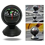 OFKPO Mini Vehicle Interior Ornaments Outdoor Car Guide Auto Compass Navigation Ball with Adhesive and Delicate Decoration Black