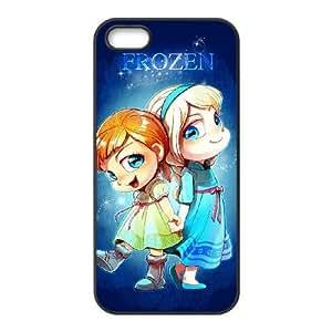 iPhone 5s phone case Black Frozen Disney Cartoon Elsa and Anna FRRG8622891