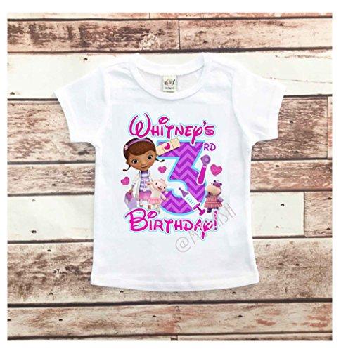 (Personalize Doc Theme Birthday Shirt - Birthday Girl)