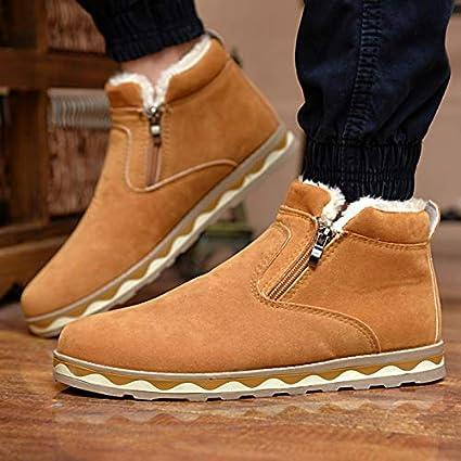 a33d0c9fb08aa Amazon.com: Best Quality Hah Men's Boots Thicken Warm Winter Snow ...