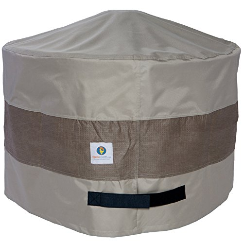 Duck Covers Elegant Round Fire Pit Cover, 36-Inch (Fire Pit Covers Round)