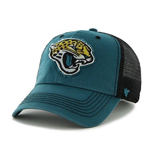 (NFL Jacksonville Jaguars '47 Brand Taylor Closer Stretch Fit Hat, Dark Teal, One Size Stretch)