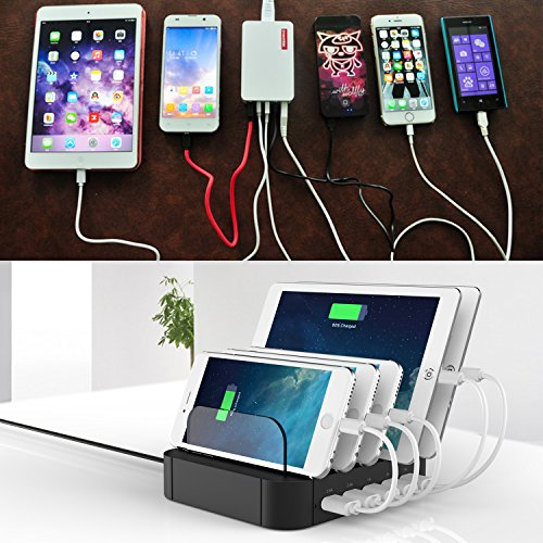Flepow 10 Port Usb Charging Station Dock With Built In