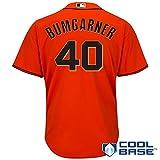 Majestic Madison Bumgarner San Francisco Giants Orange MLB Youth Alternate Replica Jersey (Large 14-16)