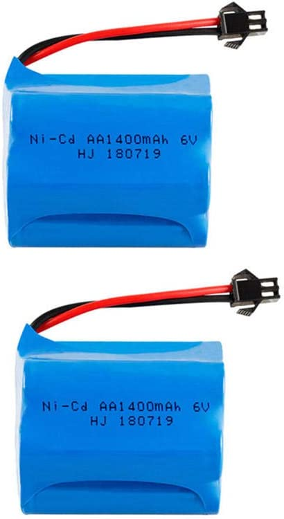 6v 1400mah Ni-CD Battery with Charger For Rc toys Trains Robots Boats Cars Tanks Guns tools AA 700mah 6v Rechargeable Battery-2PCS