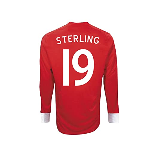 b9a0f1f6dc6 Amazon.com: Umbro STERLING #19 England Away Jersey Long Sleeve ...