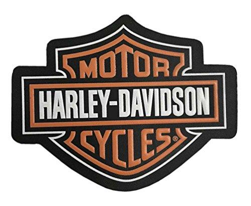 Harley-Davidson Genuine Bar & Shield Logo Leather Emblem Patch, 4 x 3 - Patch Emblem