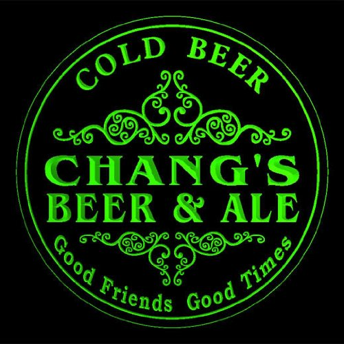 4x-ccqs0949-g-changs-beer-ale-cold-drink-bar-etched-engraved-3d-coasters