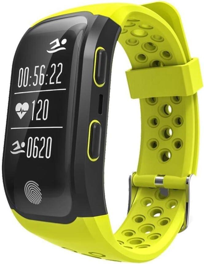 Ffshop Multifunción GPS Running Ciclismo Inteligente Especial del Reloj Atletismo al Aire Libre Contando Pulsera (Color : B)
