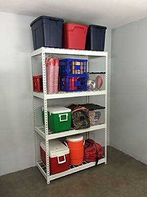 SafeRacks Garage Storage Rack | Steel Shelving Unit | 2'D x 4'W x 7'T