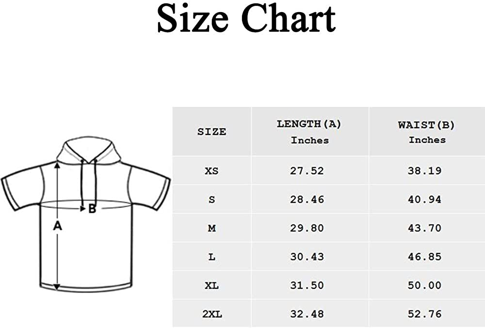 INTERESTPRINT Mens Short Sleeve Hoodies Pullover Paw Cat Lightweight Drawstring Shirts XS-2XL