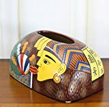 YOURNELO Ceramic Egyptian Artistic Retro Tissue Box Holder (Brown)