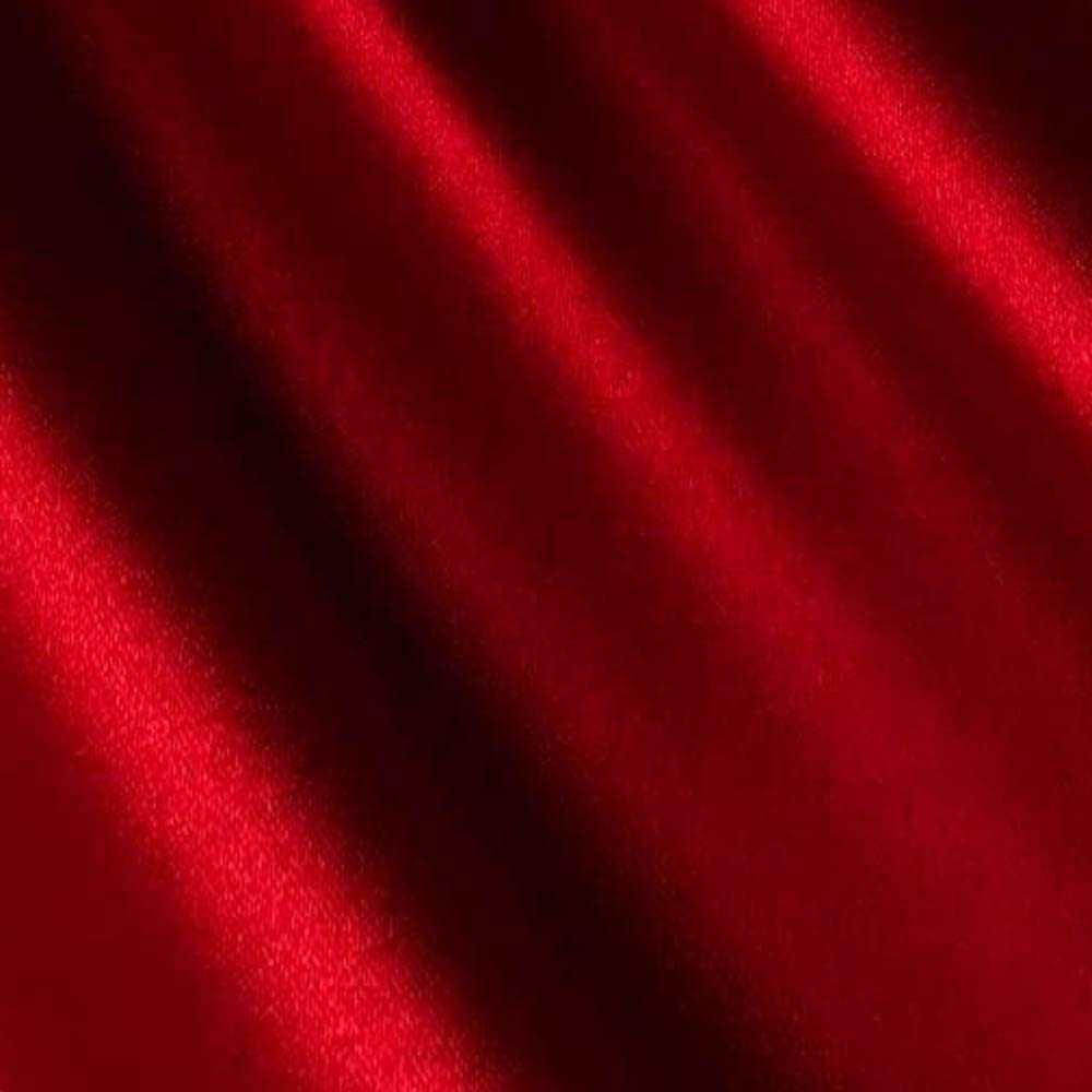 "Red Satin Fabric 60"" Inch Wide – 20 Yards by Roll - for Weddings, Decor, Gowns, Sheets, Costumes, Dresses, Etc -Wholesale (F.b.)"