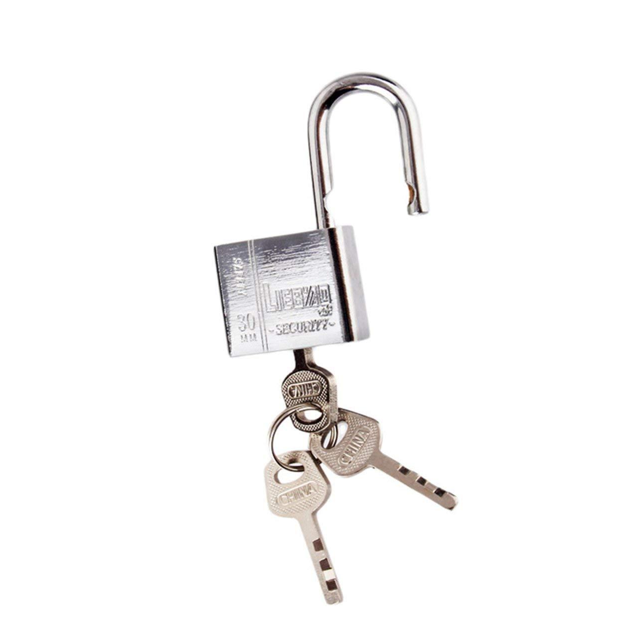 Celerhuak 3 Llaves Uso Duradero Trabajo Pesado Alta Seguridad Cerradura s/ólida Puerta Puerta Caja Seguridad Candado de Acero Inoxidable