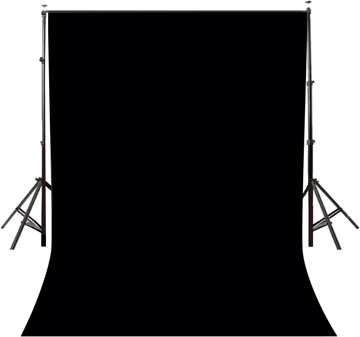Lyly County Background 5x7ft Non-Woven Fabric Solid Color Black Screen Photo Backdrop Studio Photography Props LY062